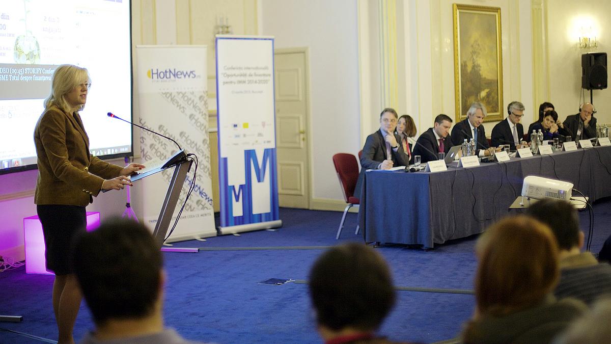 """Speechul Comisarului european Corina Crețu la Conferința """"Oportunități de finanțare pentru IMM-uri 2014-2020"""", 12 martie 2015"""